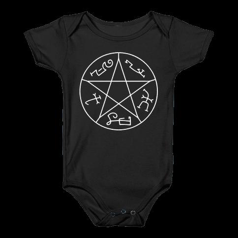 Devil's Trap Baby Onesy