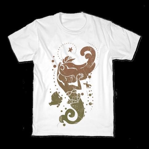 Natural Mermaid Princess Splash Kids T-Shirt