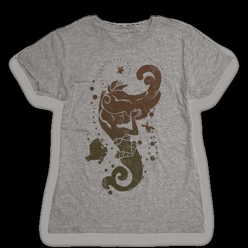 Natural Mermaid Princess Splash Womens T-Shirt