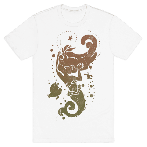 Natural Mermaid Princess Splash Mens T-Shirt