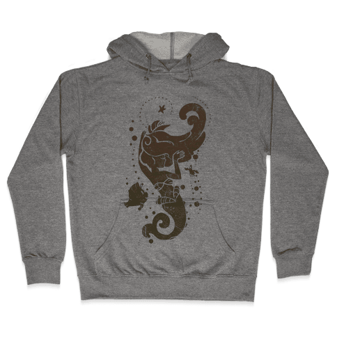 Natural Mermaid Princess Splash Hooded Sweatshirt