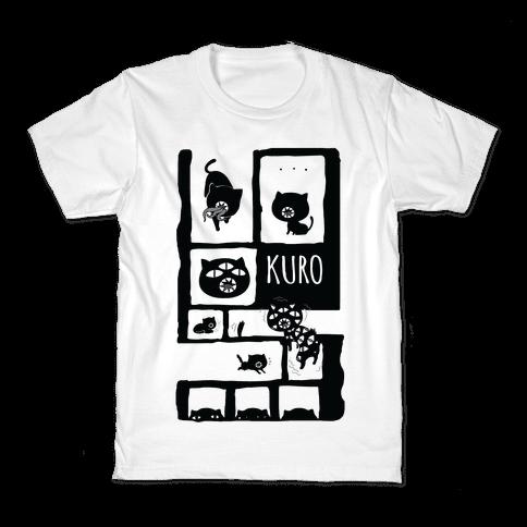 Kuro Cat Kids T-Shirt