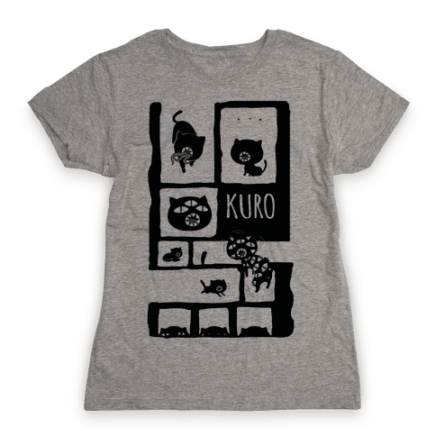 Kuro Cat Womens T-Shirt