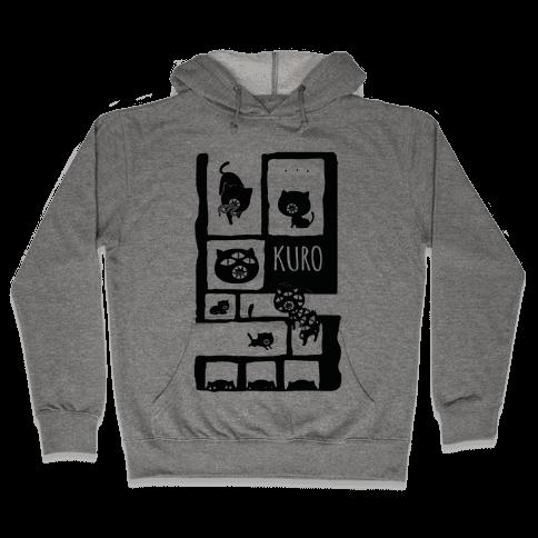 Kuro Cat Hooded Sweatshirt