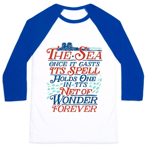 The Sea Baseball Tee
