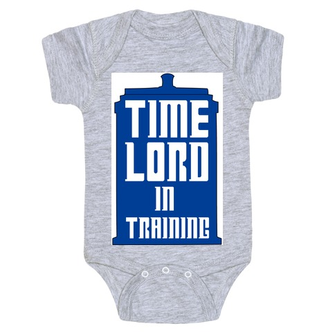 Timelord in Training Baby Onesy