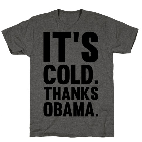 It's Cold. Thanks Obama. T-Shirt