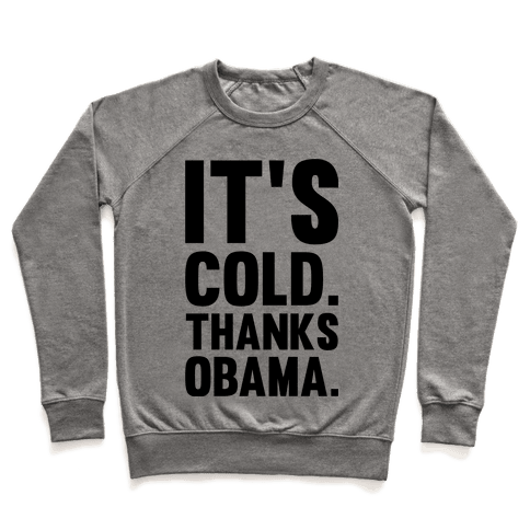 It's Cold. Thanks Obama. Pullover