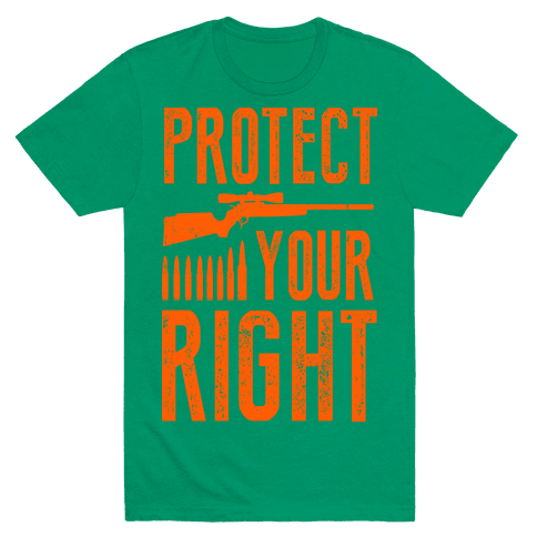 Protect Your Right (Camo Shirt) Mens T-Shirt