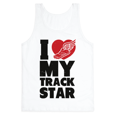 I Love My Track Star Tank Top