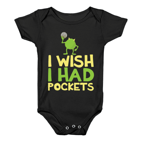 Monsters without Pockets Baby Onesy