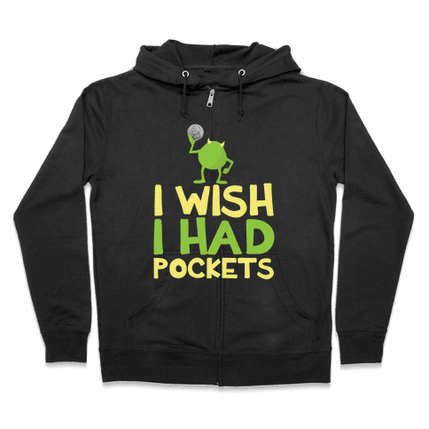 Monsters without Pockets Zip Hoodie