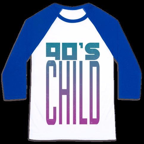 90's Child Baseball Tee