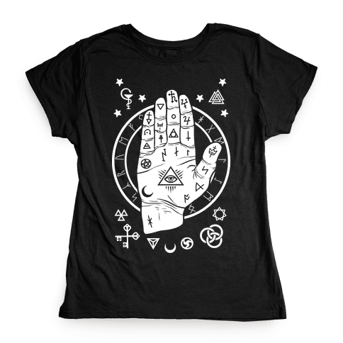 Occult Hand Womens T-Shirt