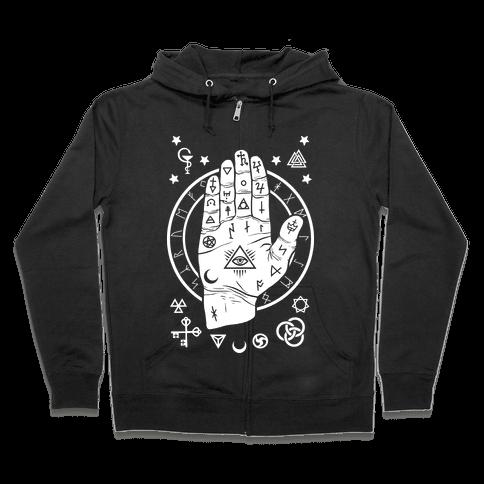Occult Hand Zip Hoodie