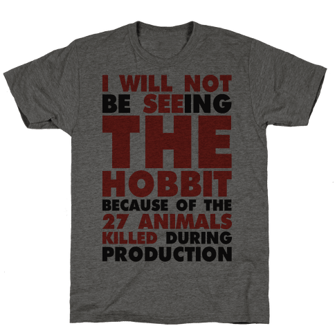 I Will Not Seeing The Hobbit Because Of The 27 animals killed during production