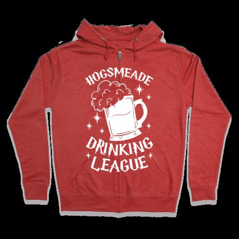 Hogsmeade Drinking League Zip Hoodie