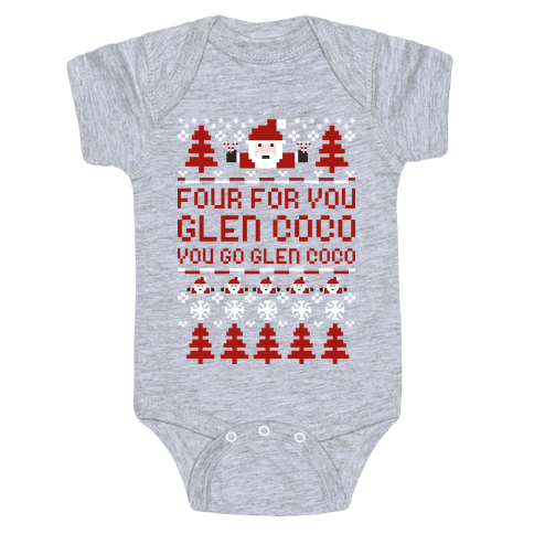 Ugly Sweater Glen Coco Baby Onesy