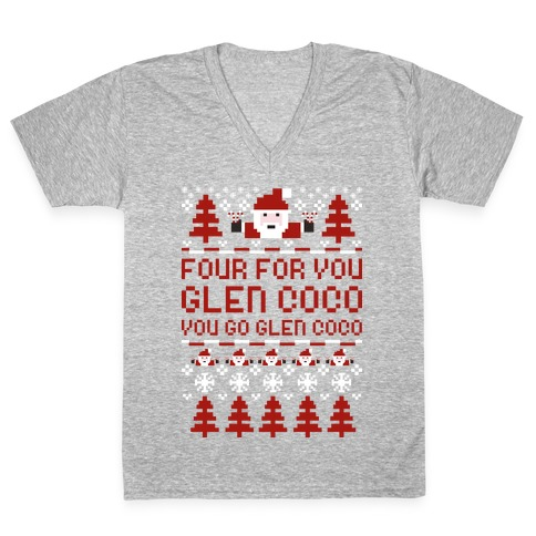 Ugly Sweater Glen Coco V-Neck Tee Shirt