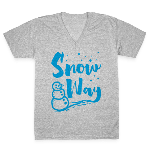Snow Way V-Neck Tee Shirt