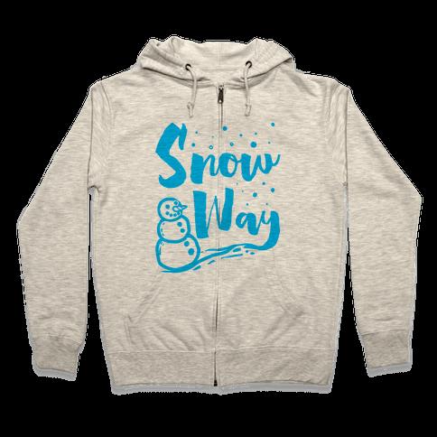 Snow Way Zip Hoodie