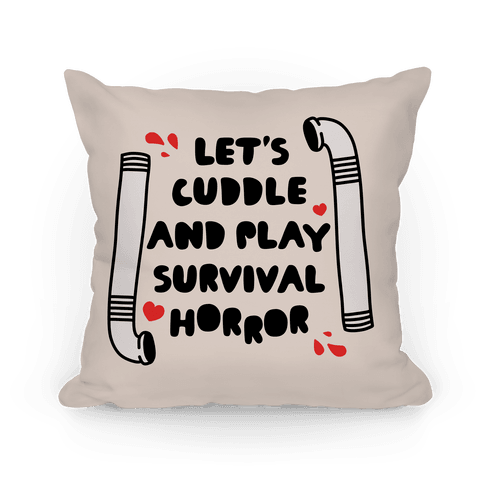 Let's Cuddle and Play Survival Horror Pillow