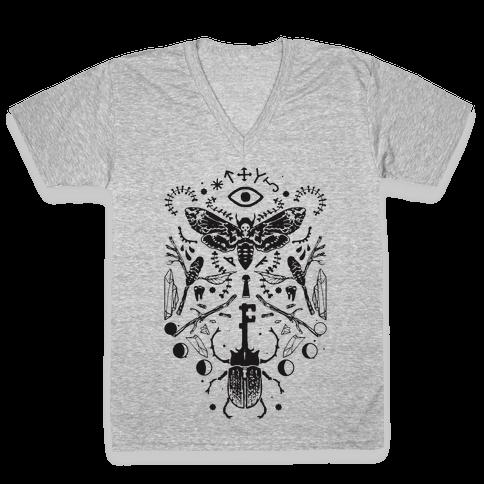 Occult Musings V-Neck Tee Shirt
