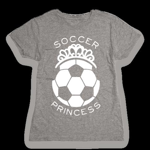 Soccer Princess Womens T-Shirt