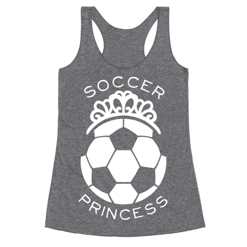 Soccer Princess Racerback Tank Top
