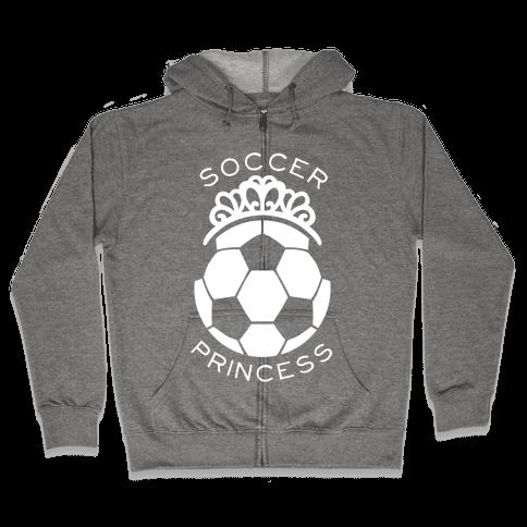 Soccer Princess Zip Hoodie