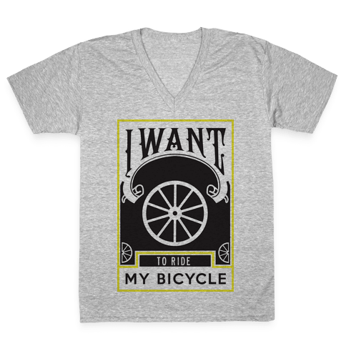 My Bicycle V-Neck Tee Shirt