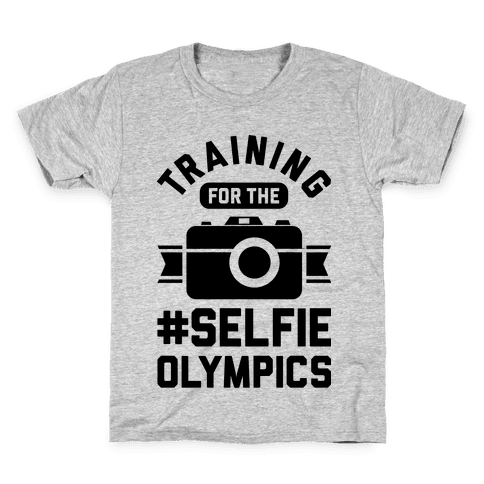 Training For The Selfie Olympics Kids T-Shirt