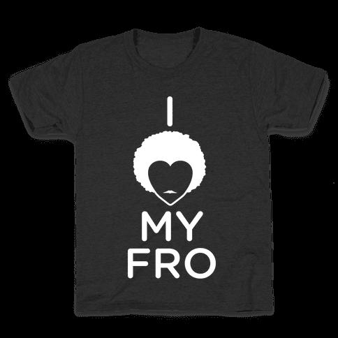 I Heart My Fro Kids T-Shirt
