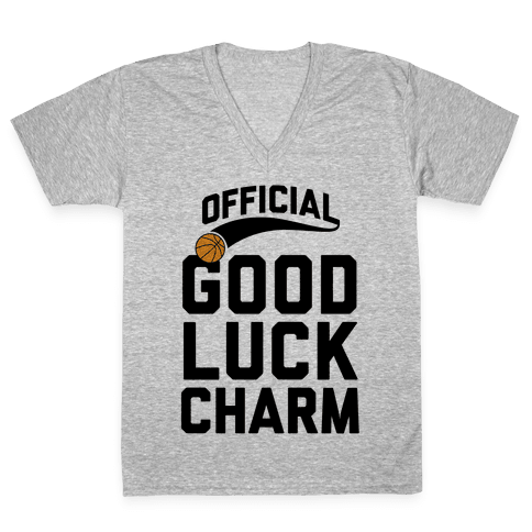 Basketball Good Luck Charm V-Neck Tee Shirt