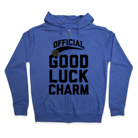 Basketball Good Luck Charm Zip Hoodie