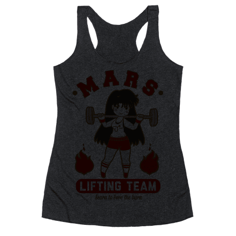 Mars Lifting Team Parody Racerback Tank Top