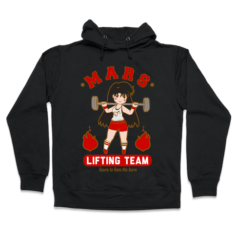 Mars Lifting Team Parody Hooded Sweatshirt