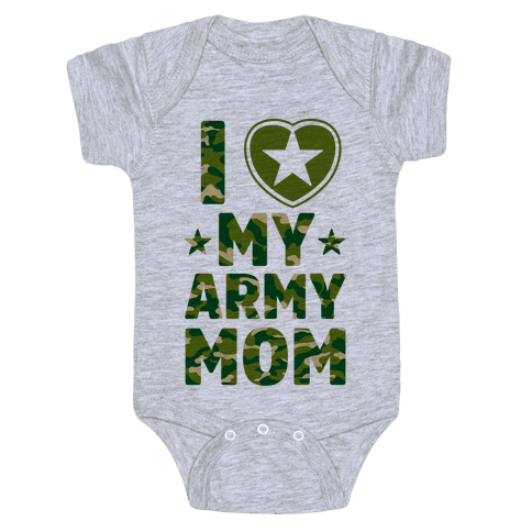 I Love My Army Mom Baby Onesy