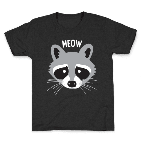 Meow Raccoon Kids T-Shirt