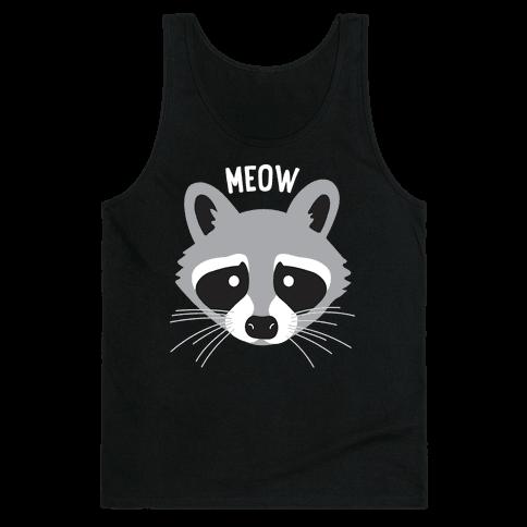 Meow Raccoon Tank Top