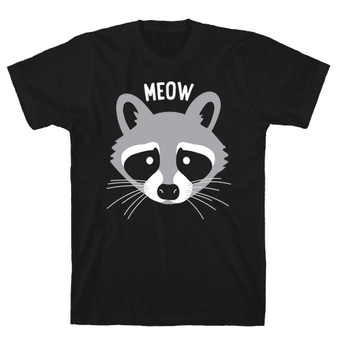 Meow Raccoon Mens T-Shirt