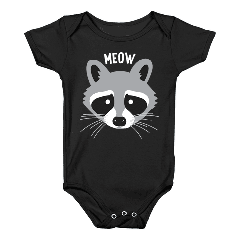 Meow Raccoon Baby Onesy