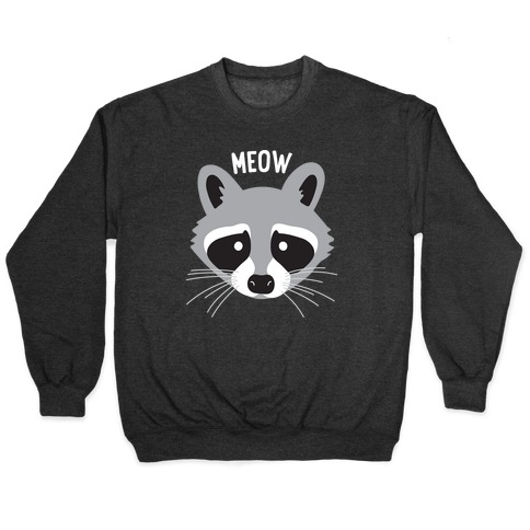Meow Raccoon Pullover
