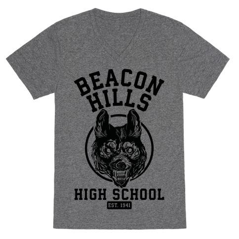 Beacon Hills High School V-Neck Tee Shirt