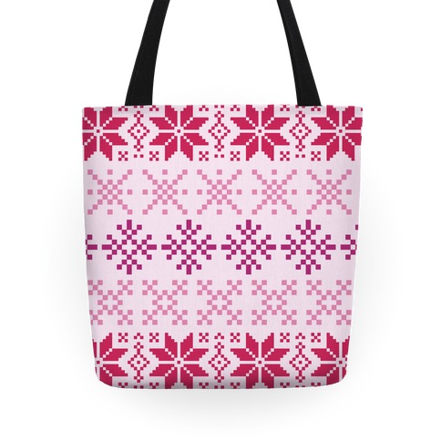 Pink Sweater Pattern Tote