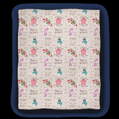 Mean Girls Doodle Pattern Blanket