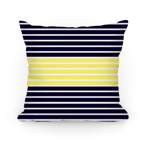 Navy and Yellow Stripe Pillow Pillow