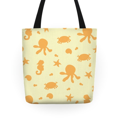 Sea Creature Pattern (Yellow) Tote