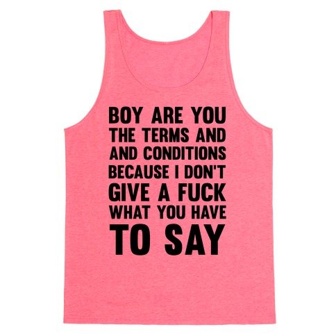 Terms and Conditions Tank Top