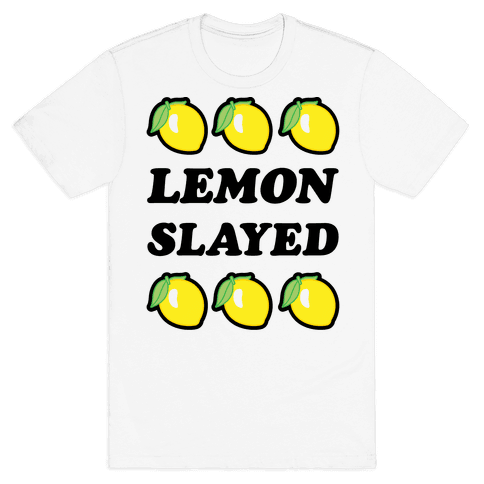 Lemon Slayed Parody Mens T-Shirt